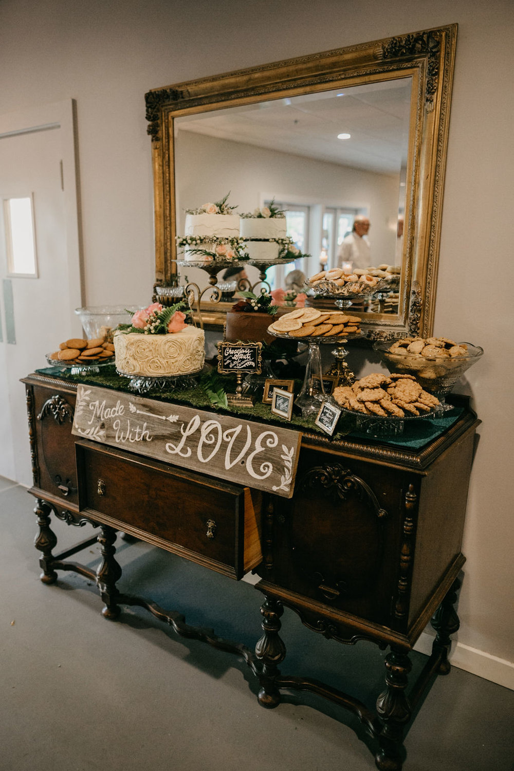 Vintage buffet, perfect for a dessert table or gifts!