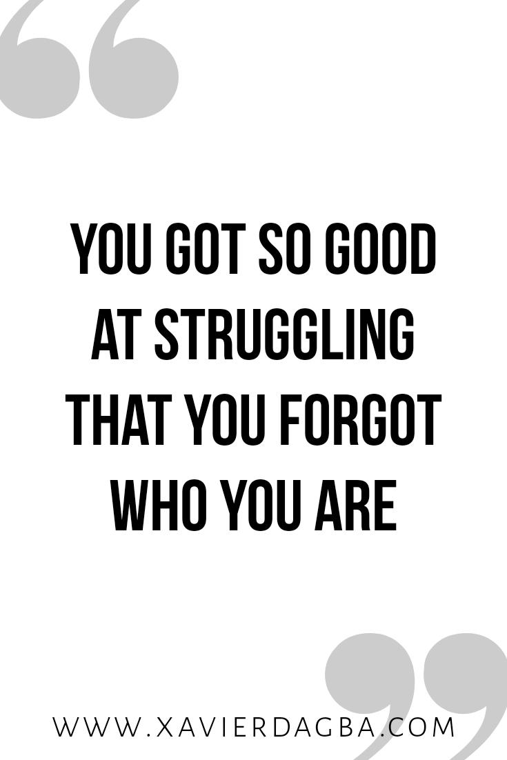 Let go of struggling | motivational & inspirational quote