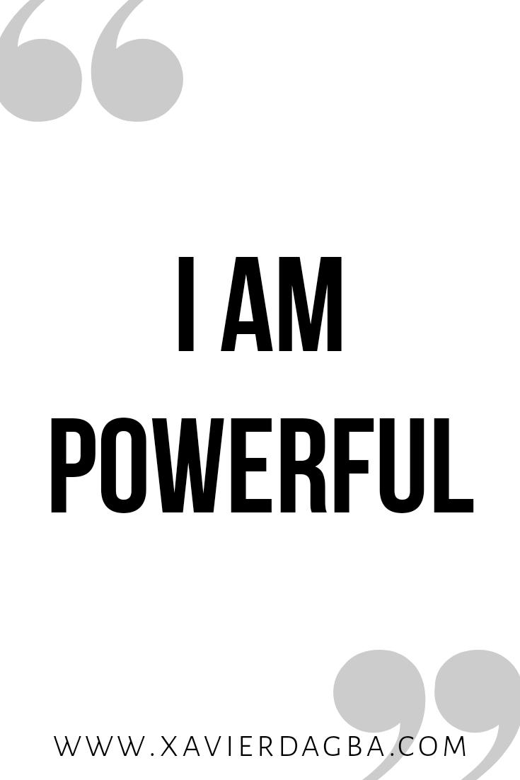 I am powerful affirmation | motivational & inspirational quote