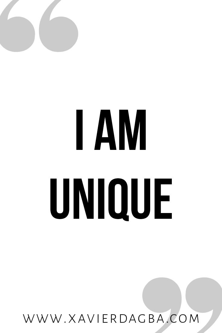 I am unique affirmation | motivational & inspirational quote