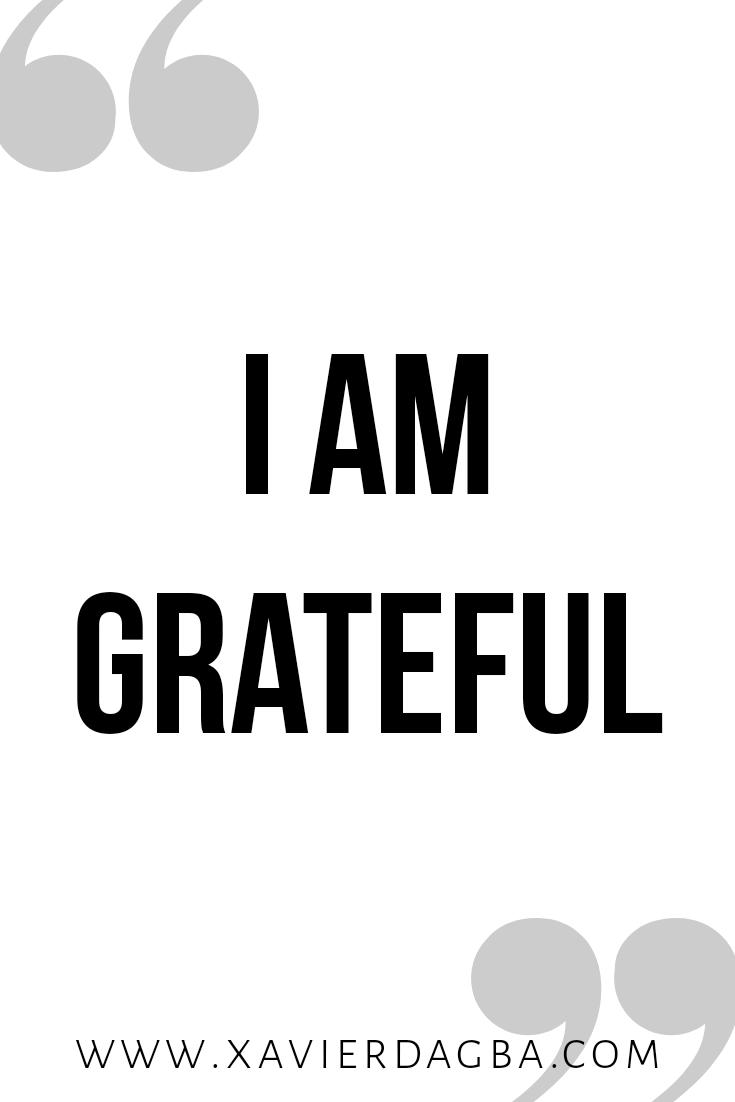 I am grateful affirmation | motivational & inspirational quote
