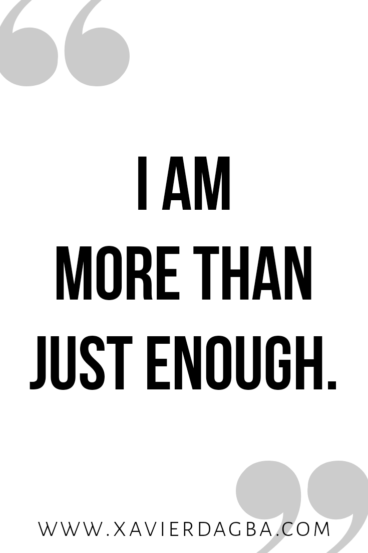 I am more than enough affirmation | motivational & inspirational quote
