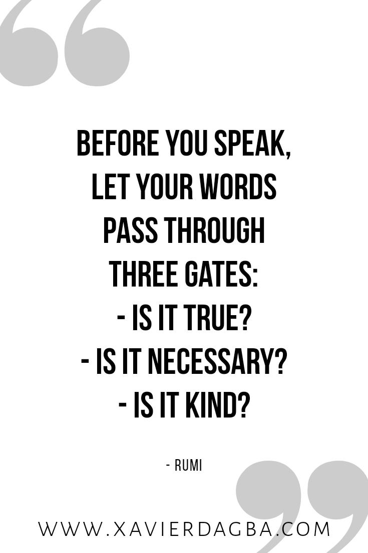 speak mindfully | motivational & inspirational quote
