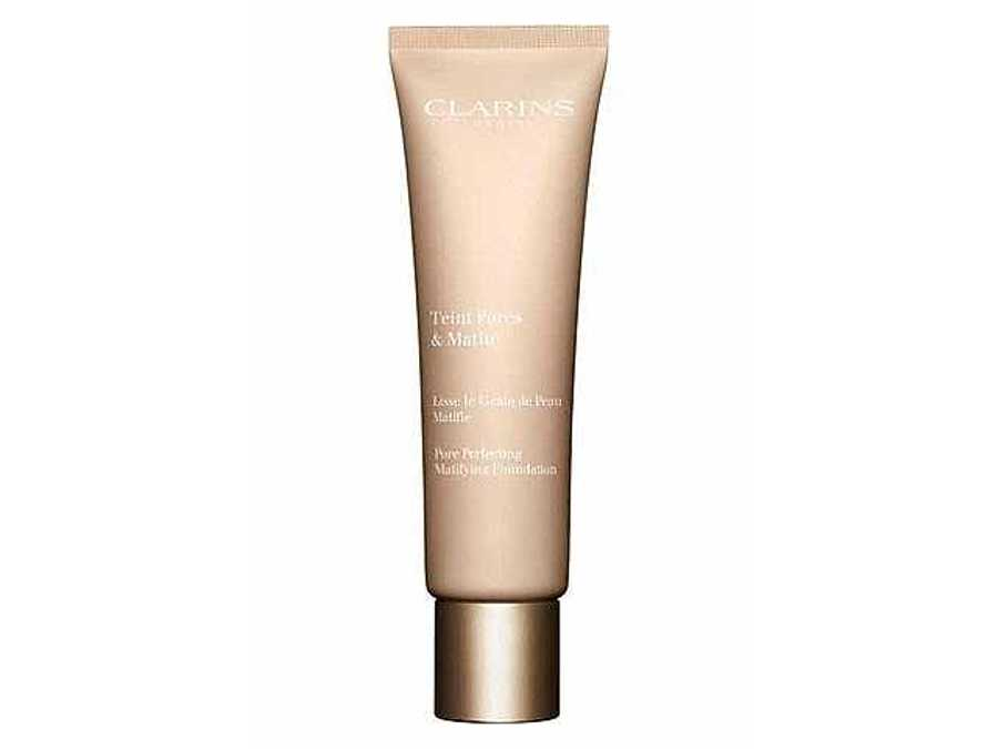 Clarins Pore Perfecting Mattifying Foundation -  Best Foundations For Oily Skin, Be Shine Free