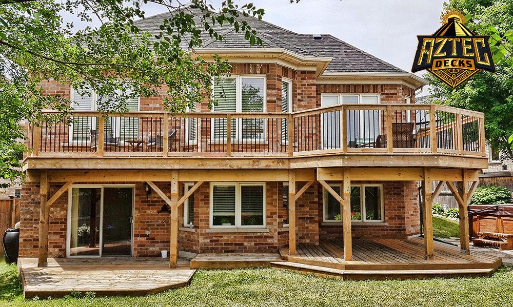 Oshawa large deck deckorators railing trex rainescape waterproofing by aztec decks.jpg