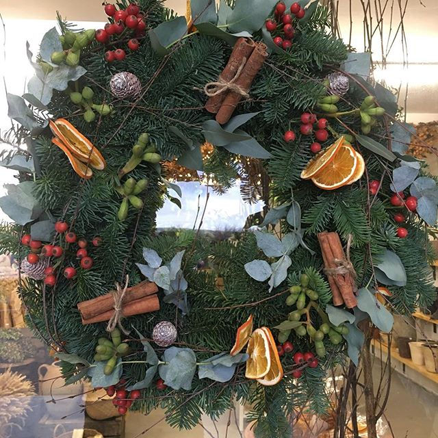 Fill your senses with the abundance of nature around you.No plastic, just nature's finest. Just can't get enough of these hand made traditional wreaths. Now available to order in store.  #christmas #wreaths #nature #plasticfree