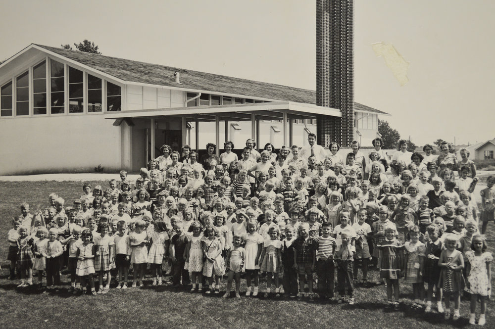 The first Sunday School, 1953.
