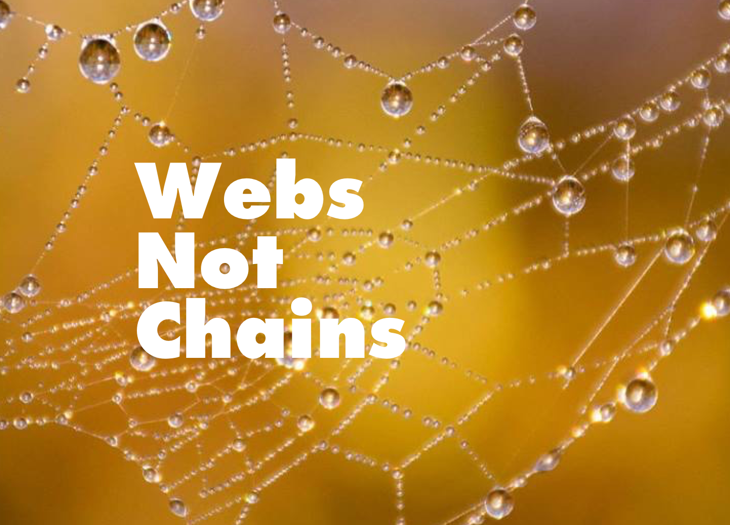 Webs Not Chains