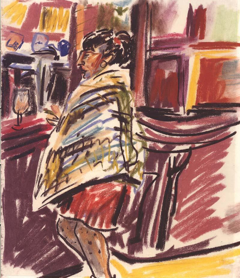 Paris Bar (pastels) ©irenejuliawise