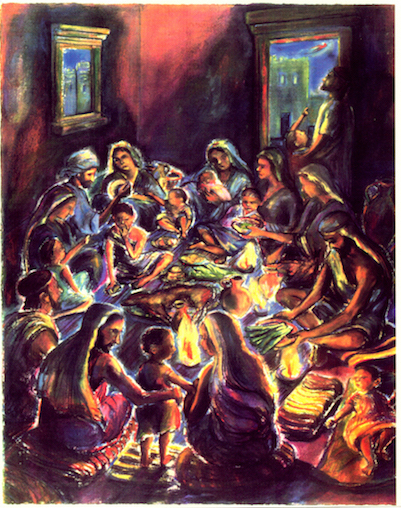 The First Passover (pastels) ©irenejuliawise