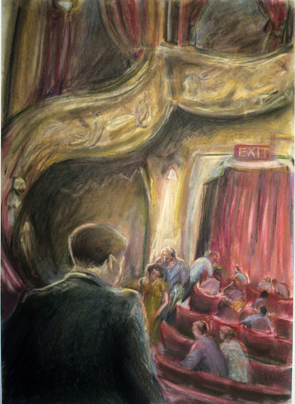 At the Theatre (pastels) ©irenejuliawise