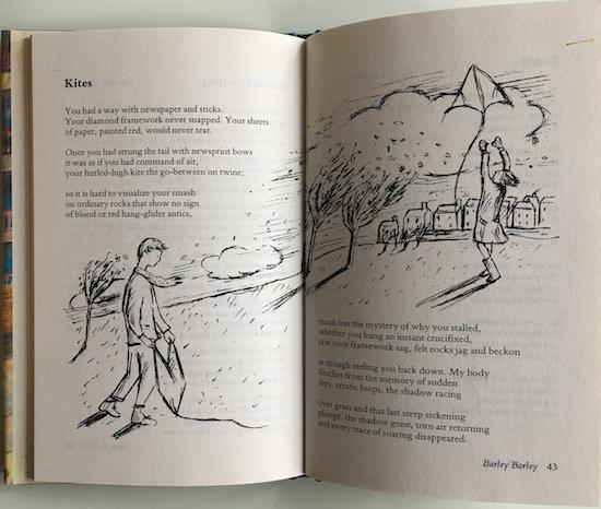 Kites, poem by Barrie Wade in Barley Barley (Oxford University Press) ©irenejuliawise