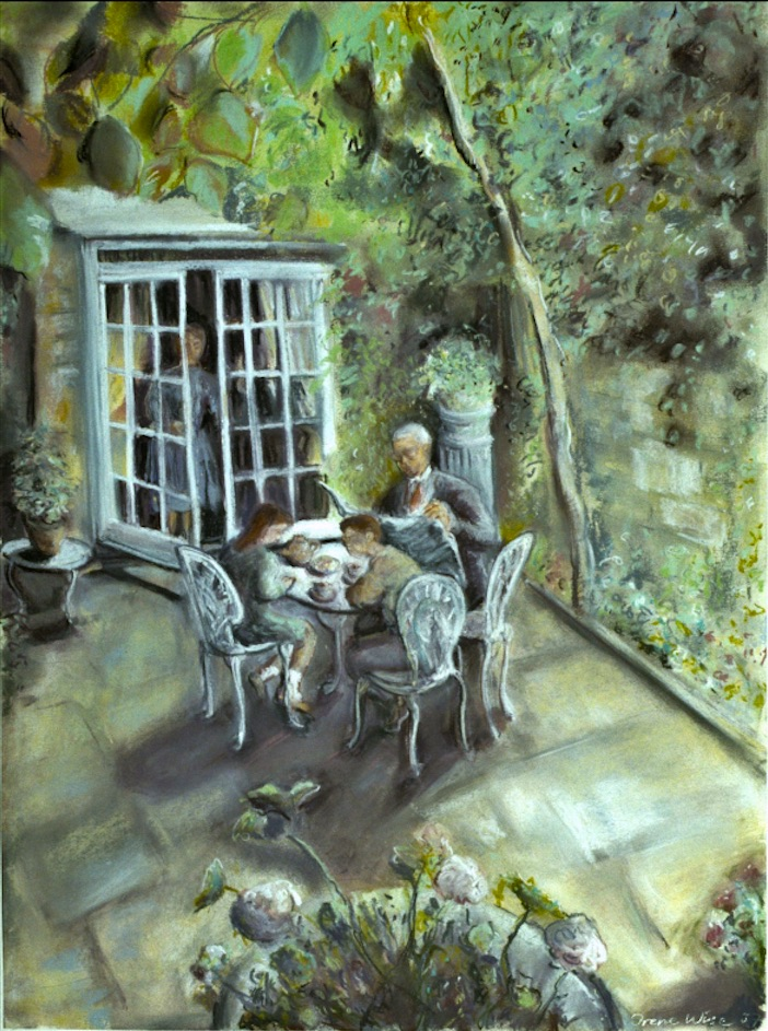 Lunch in the Chelsea Garden (pastels) ©irenejuliawise