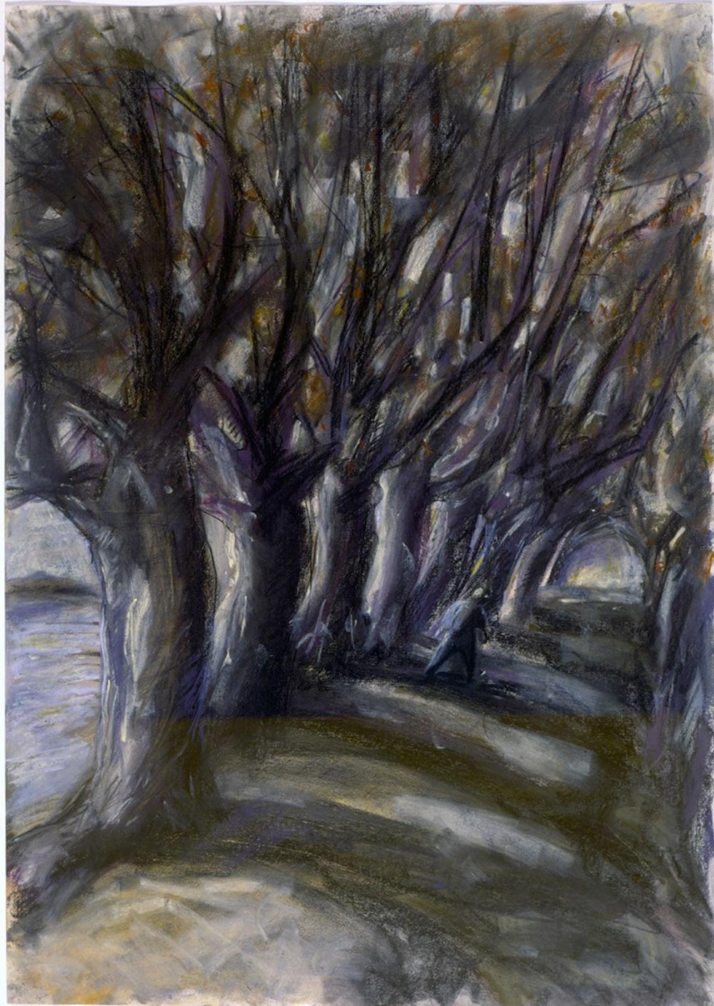 Avenue of Trees (pastels) ©irenejuliawise