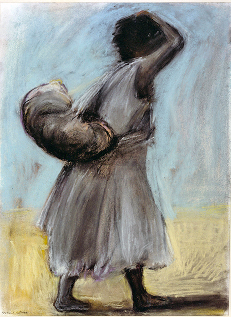 Refugee: Migrant Worker (pastels) ©irenejuliawise