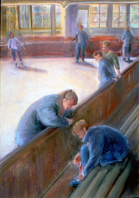 At teh Skating Rink (pastels) ©irenejuliawise