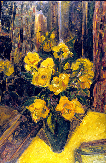 Yellow Roses (oil painting) ©irenejuliawise