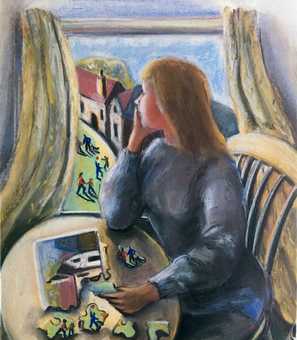At the Window (pastels) ©irenejuliawise