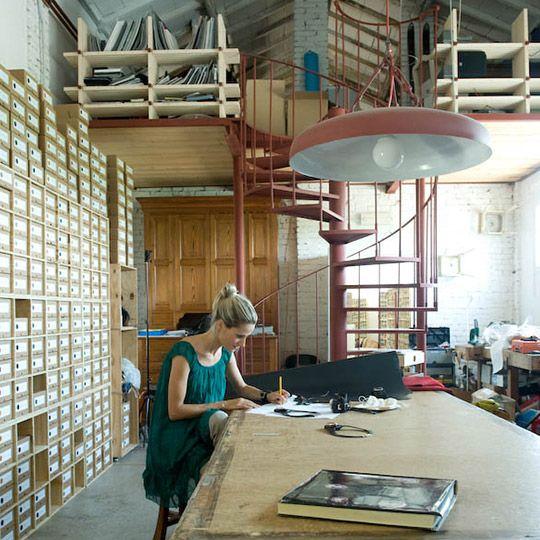Anna Porcu in her workshop. Photo credit - Gils Gilbert