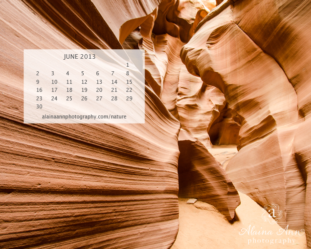 Alaina Ann Photography June 2013 Wallpaper Calendar