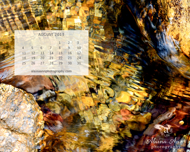 Alaina Ann Photography August 2013 Wallpaper Calendar