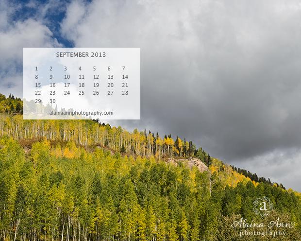 September 2013 Wallpaper Calendar from Alaina Ann Photography