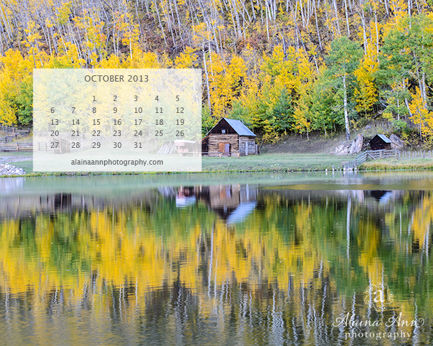 October Wallpaper Calendar by Alaina Ann Photography