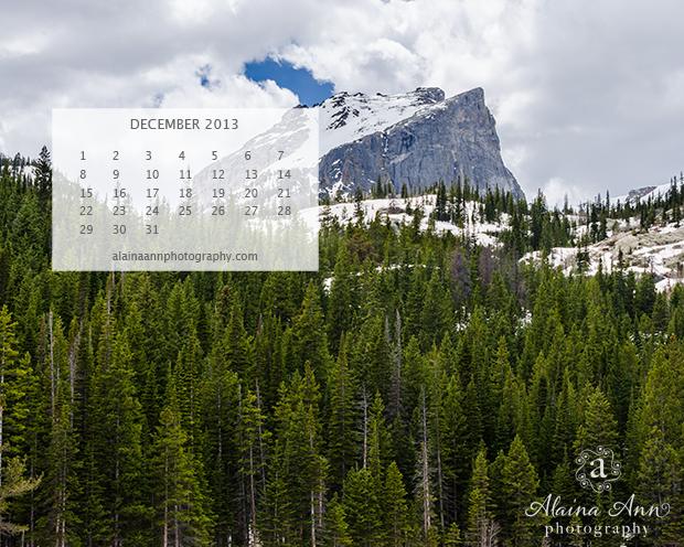 FREE December Wallpaper Calendar | Alaina Ann Photography