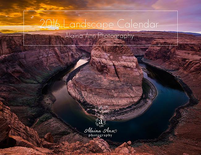Inside the 2016 Landscape Calendar | Alaina Ann Photography