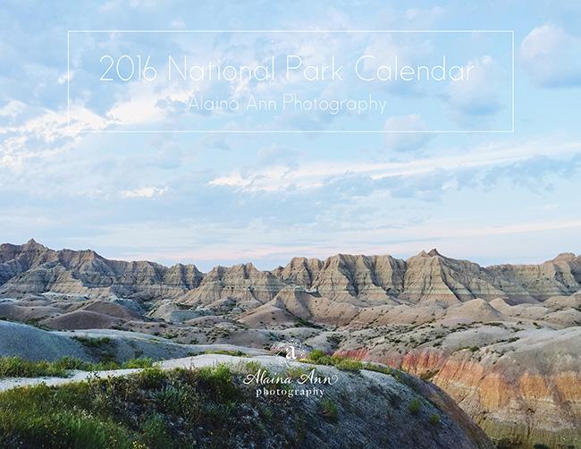 Inside the 2016 National Park Calendar | Alaina Ann Photography