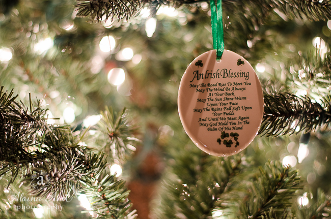 An Irish Blessing Christmas Tree Ornament | Alaina Ann Photography