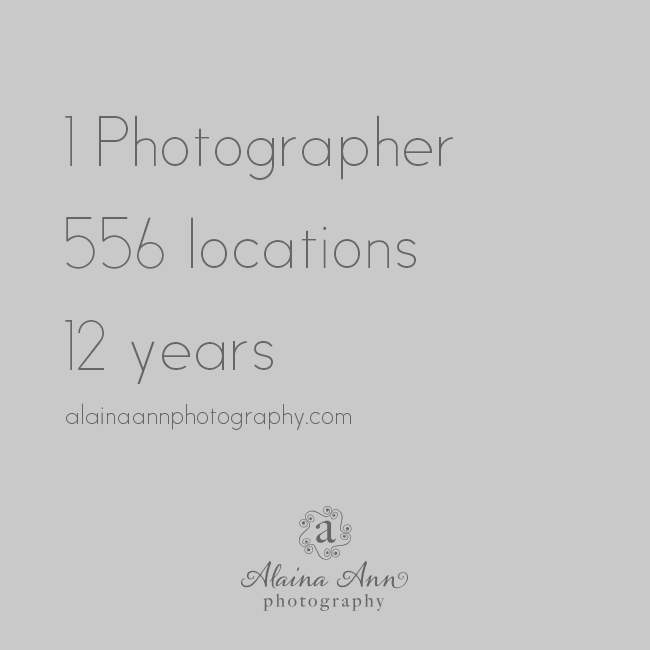 556 Locations in 12 Years | Travel | Alaina Ann Photography