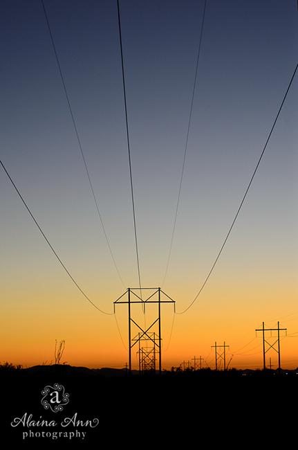 Sunset Power Lines | Photograph Story | Alaina Ann Photography