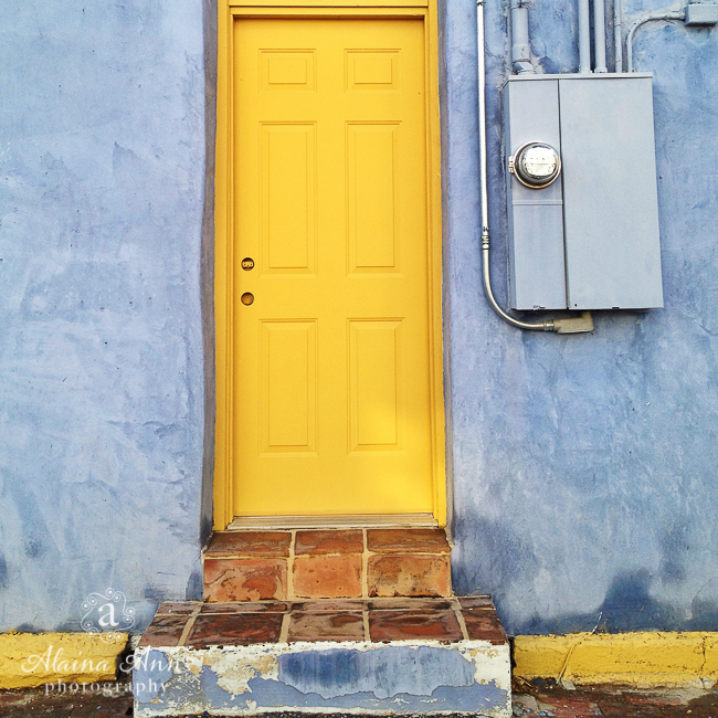 Blue and Yellow Utility | Photograph Story | Alaina Ann Photography (iPhone 4s)