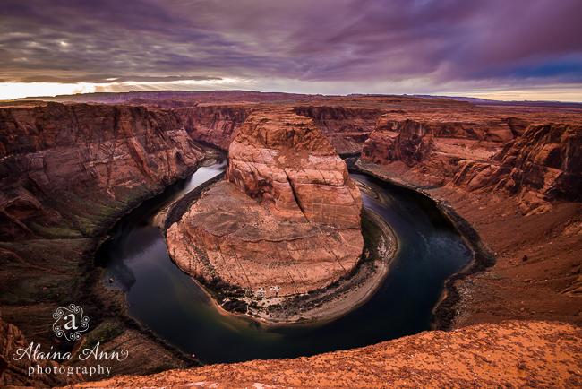 Horseshoe Bend Sunset Progression | Travel | Alaina Ann Photography