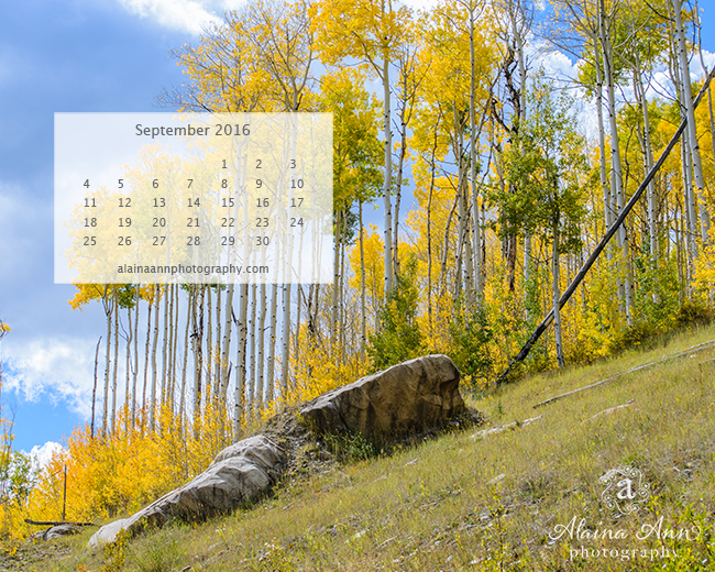 September 2016 Wallpaper Calendar | Alaina Ann Photography