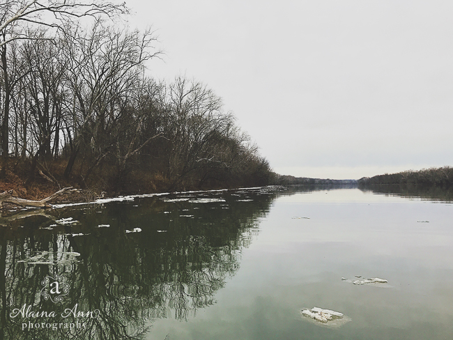 Ice on the River | Friday Favorite | Alaina Ann Photography
