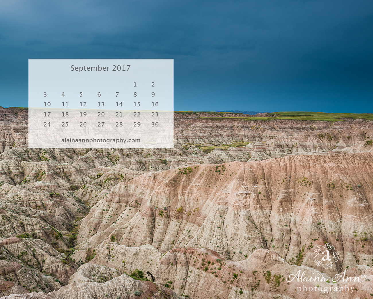 September 2017 Wallpaper Calendar | Alaina Ann Photography