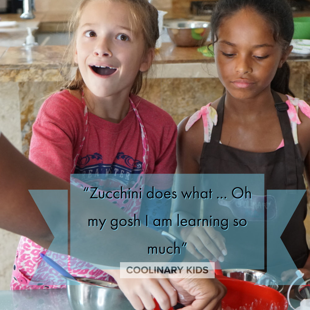 We teach so much more than cooking …. - As kids chop, blend, mix, taste, smell, meal plan, prepare a grocery list and budget we help build confidence. Working in teams we develop time management and leadership skills to work our way to becoming more self-sufficient.