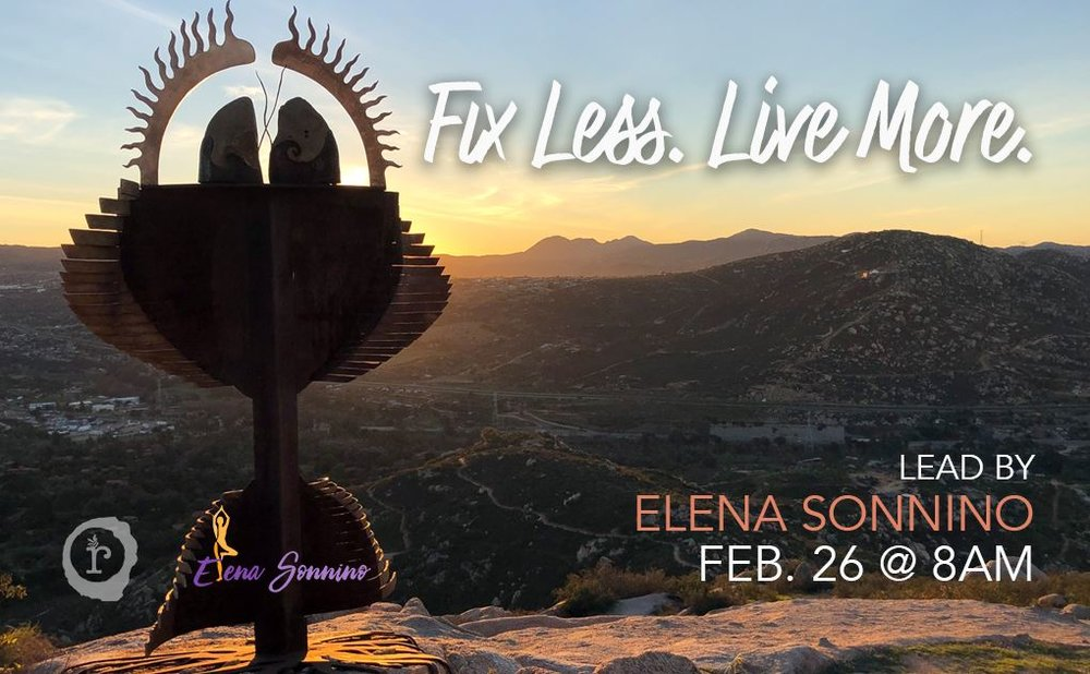 Fix Less. Live More Workshop with Elena Sonnino