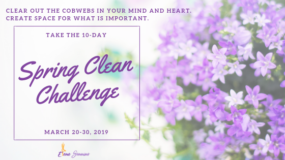 Spread the Spring Clean Challenge Ripple - Share this with someone you know who might want to join us!