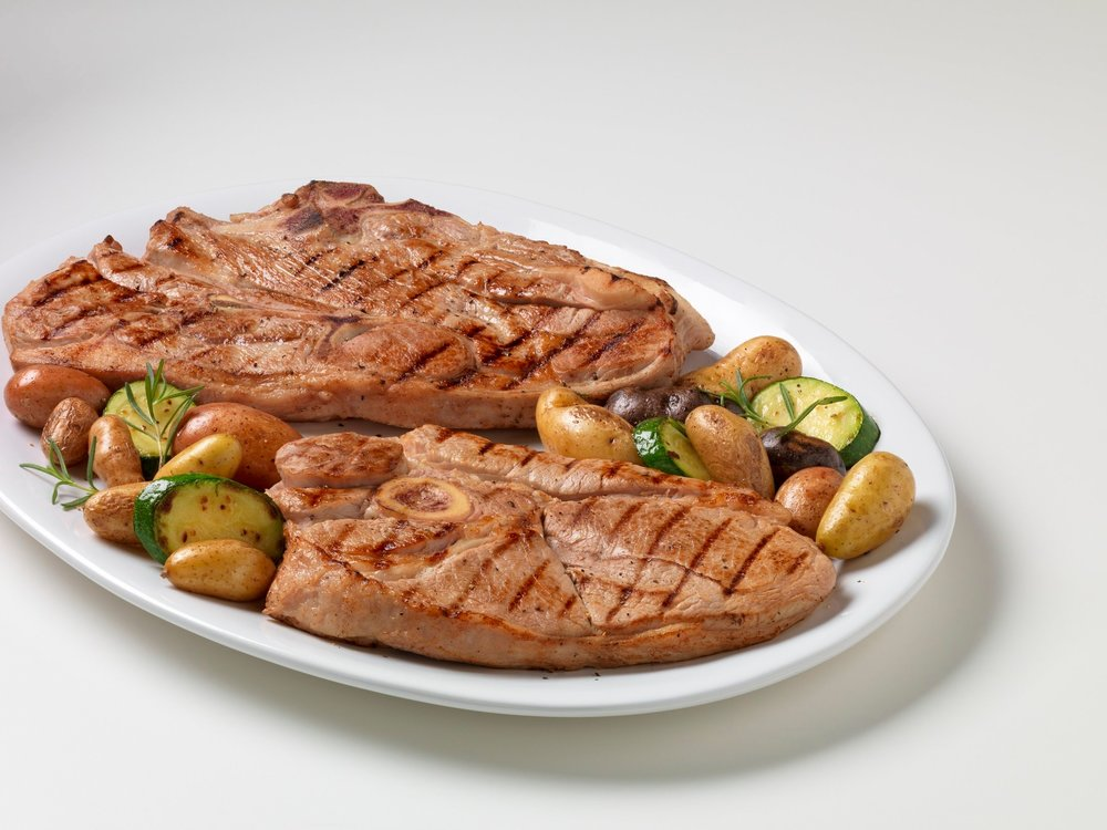Veal Protein Matters - 1 serving of lean veal has 27 grams of protein and 170 calories. To get that much protein, it takes about…· 4 servings firm tofu (260 calories) OR· 4-1/2 servings of almond butter (880 calories) OR· 4-1/2 medium hard cooked eggs (330 calories) OR· 1-2/3 cups hummus (900 calories)