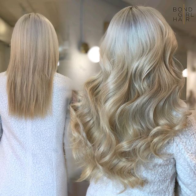"Sweet like Sugar 🍦🍦🍦 20"" Tape Extensions #bondgirlhair . . . @behindthechair_com @modernsalon @imallaboutdahair #extensionspecialist #beforeandafter #hairextensions #hair #extensions #tapeextensions #fusions #fusionextensions #longhairdontcare #hairgoals #goals #torontohair #torontoextensions #torontohairextensions #hairextensionstoronto #extensionstoronto #behindthechair #modernsalon #imallaboutdahair  #hairstyles #beauty #hairspo  #longhair #makeover #transformation #blonde #blondehair #sugar"