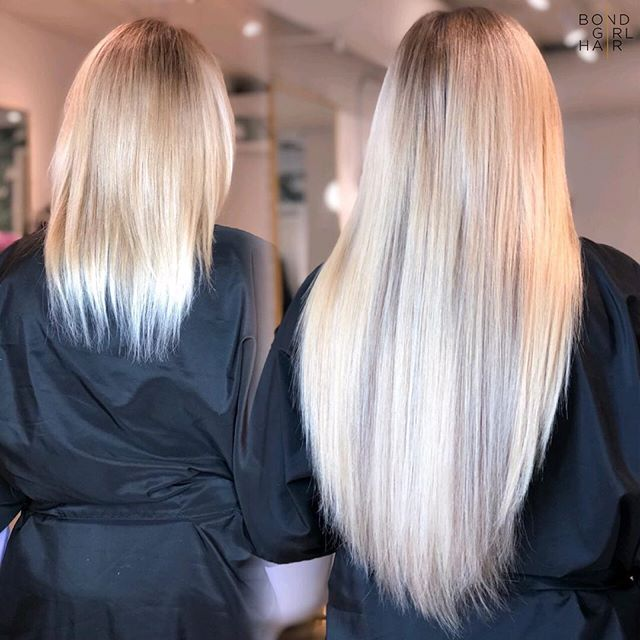 """I C E ❄️ . . ❄️My client was unhappy with her colour and wanted to add more dimension. These are 20"""" @hotheadshairextensions in colours #18 Ash Blonde, #18/25 Ash Blonde to light blonde & #613/6R light blonde with natural Med Brown Root❄️ . . @hotheadshairextensions @behindthechair_com @modernsalon @imallaboutdahair @american_salon @hairextensionmagazine #extensionspecialist #beforeandafter #hairextensions #hair #extensions #tapeextensions #longhairdontcare #hairgoals #goals #torontohair #torontoextensions #torontohairextensions #hairextensionstoronto #extensionstoronto #behindthechair #modernsalon #imallaboutdahair  #hairstyles #beauty #hairspo  #longhair #makeover #transformation #balayage #blonde #blondehair"""