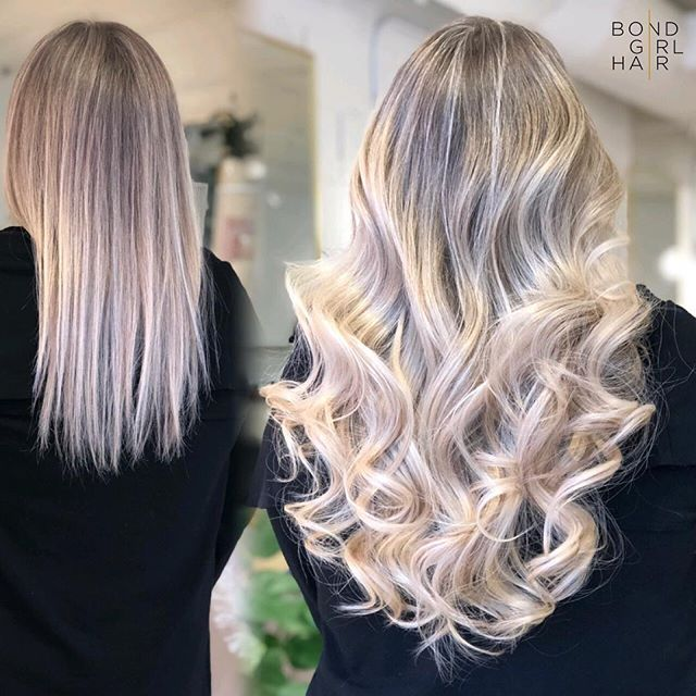 """🧁 16"""" Individual Bonded Extensions 🧁 Even adding the slightest amount of length can make all the difference 🧁Full, thick ends can give the appearance of longer hair without adding inches 🧁 #bondgirlhair . . 🧁 Swipe to see her neat & comfortable little bonds 🧁 . . @behindthechair_com @modernsalon @imallaboutdahair #hairextensions #torontohairextensions #extensionspecialist #hairextensionstoronto #torontohair #longhairdontcare #fusionextensions #bonds #individualbonds #beforeandafter #makeover #transformation #beauty #hair #hairgoals #modernsalon #behindthechair #imallaboutdahair #extensions #hairlove"""