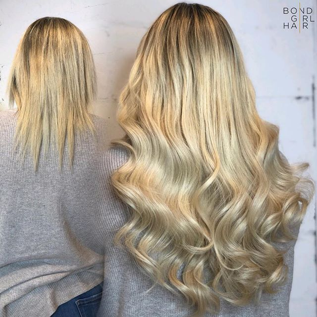 "Transformation Tuesday 🦄 20"" Individual Bonds #bondgirlhair . . . @modernsalon @imallaboutdahair @behindthechair_com #hairextensions #torontohairextensions #extensionspecialist #hairextensionstoronto #torontohair #longhairdontcare #fusionextensions #bonds #individualbonds #beforeandafter #makeover #transformation #beauty #hair #hairgoals #modernsalon #behindthechair #imallaboutdahair #extensions #hairlove #blonde #blondhair"