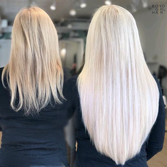 """b l o n d e 💎 Enhancing this beautiful colour using two tones of 20"""" Individual Bonded Extensions #bondgirlhair . . 💎 Swipe to see some Bonds 💎 . . @behindthechair_com @modernsalon @imallaboutdahair #hairextensions #torontohairextensions #extensionspecialist #hairextensionstoronto #torontohair #longhairdontcare #fusionextensions #bonds #individualbonds #beforeandafter #makeover #transformation #beauty #hair #hairgoals #modernsalon #behindthechair #imallaboutdahair #extensions #hairlove"""
