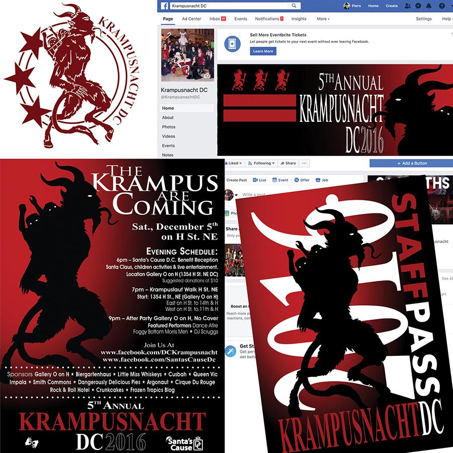 Krampusnacht DC - Charity Walk ~ Design Study