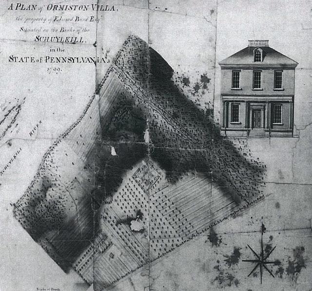 1799 Survey plan of Ormiston prepared for Edward Burd