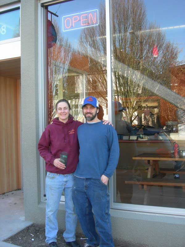Sara & Jordan in front of our E Burnside location. 2008.